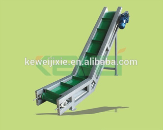 Food Grade Pu / Pvc / Pvc Bucket Conveyor Belt